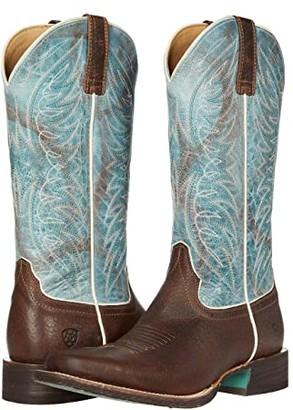 Ariat Circuit Westwood (Walnut Brown/Azul) Cowboy Boots