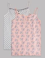 Marks and Spencer 2 Pack Cotton Rich Assorted Vests (9-16 Years)