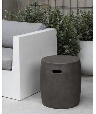 Campania International Urban Round Garden Table-Fiber Cement-S/1