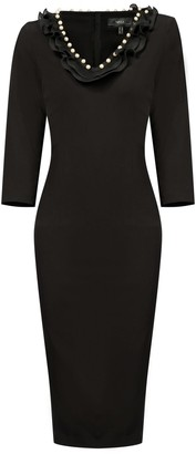Nissa Bodycon Dress With V Neckline