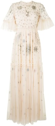 Needle & Thread Star-Embellished Tulle Long Dress