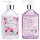 Hand Lotion And Hand Soap Set With Fancy Caddy