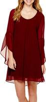 My Michelle Flutter-Sleeve Shift Dress - Juniors