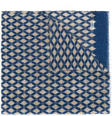 Barba frayed print scarf
