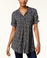 Style&Co. Style & Co Style & Co Petite Mesh Utility Shirt, Created for Macy's