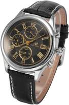 K&S KS Men's 6 Hands Date Day Month Display Leather Band Automatic Mechanical Watch KS147