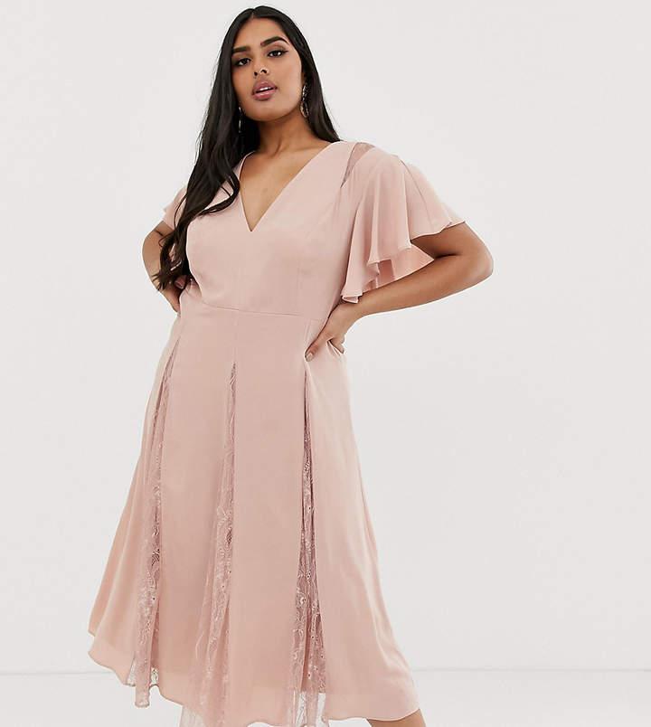 437bea62b00 Asos Pink Lace Dresses - ShopStyle