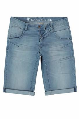 JP 1880 Men's Big & Tall Denim Stretch Bermuda Shorts Bleached Denim 60 721122 99-60