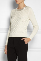 Temperley London Verita beaded silk and cotton-blend sweater