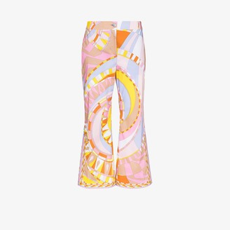 Emilio Pucci Wally-print cropped flare trousers