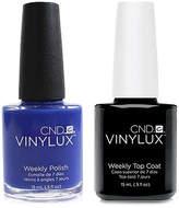 CND Creative Nail Design Vinylux Blue Eyeshadow Nail Polish & Top Coat (Two Items), 0.5-oz, from Purebeauty Salon & Spa