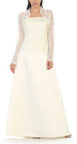 Ivory Lace-Overlay Gown & Sheer Shrug - Plus Too