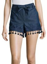 Parker Bow Chambray Embroidered Shorts