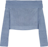 Tibi Neo cropped knitted silk top