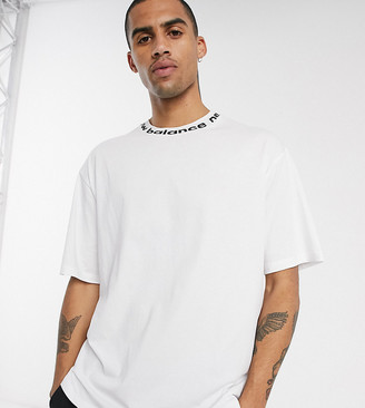 New Balance t-shirt with tape logo neck in white