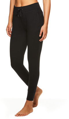 Gaiam Women's Sweatpants BLACK - Black Knit Traveler Joggers - Women