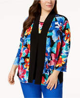 Alfred Dunner Plus Size Embellished Layered-Look Top