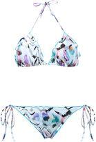BRIGITTE zebra print triangle bikini set - women - Polyamide/Spandex/Elastane - P