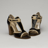 Bombshell Heel in Black/Tan