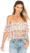 Tularosa Amelia Crop Top in Ivory. - size L (also in M,S,XS)