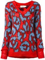 Coach leopard intarsia jumper