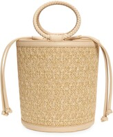 Thumbnail for your product : Mali & Lili Brittney Straw & Vegan Leather Bucket Bag