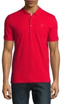 Versace Buttoned Cotton Polo