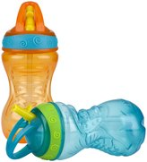 Nuby Flip-and-Tip Straw Cup - Unisex Assorted - 10 oz - 2 ct