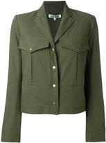 Kenzo cropped military jacket - women - Cotton/Polyester - 36