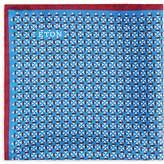 Eton Geometric Bordered Pocket Square