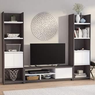 Latitude Run Oatman Entertainment Center for TVs up to 53.5 inches Latitude Run Color: Dark Gray/White