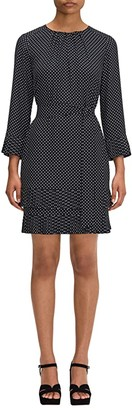 Kate Spade Dainty Dot Dress (Black) Women's Dress