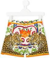 Dolce & Gabbana Majolica leopard print short