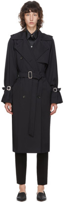 Max Mara Navy Wool Esperia Trench Coat