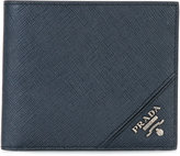 Prada brand embossed wallet - men - Leather - One Size