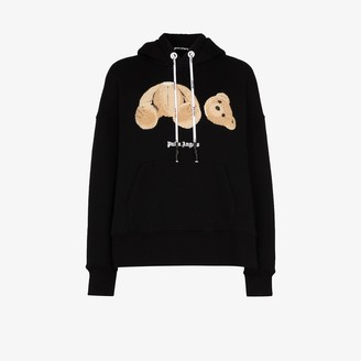 Palm Angels Bear Applique Hoodie