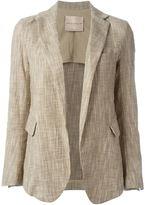 Erika Cavallini - open front blazer - women - Cotton/Polyamide/Spandex/Elastane/Viscose - 42