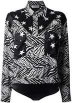 Faith Connexion star and zebra print shirt