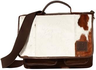 STS Ranchwear Cowhide Messenger (Cowhide/Tornado Brown) Bags