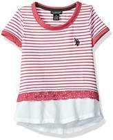 U.S. Polo Assn. Girls' Short Sleeve Blouse