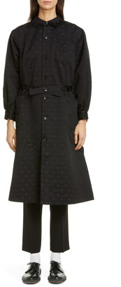Comme des Garcons Polka Dot Long Sleeve Cotton Dress