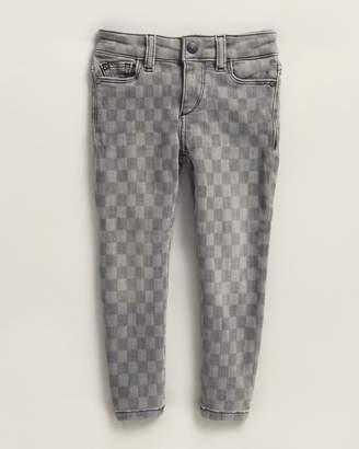 DL1961 Toddler Girls) Chloe Checker Skinny Jeans