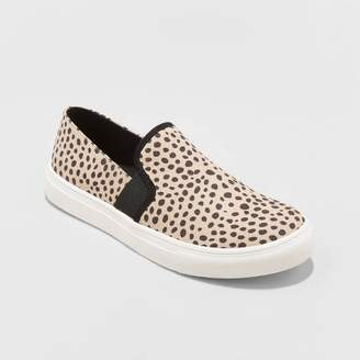 Universal Thread Women's Rose Microsuede Slip On Twin Gore Leopard Print Sneakers - Universal ThreadTM Brown