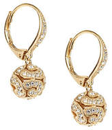 Nadri Swirl Bead Drop Earrings