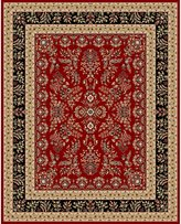 "Safavieh Lyndhurst Collection LNH331B Red and Black Area Rug, 5 feet 3 inches by 7 feet 6 inches (5'3"" x 7'6"")"