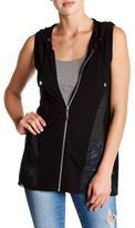 Cable & Gauge Hi-Lo Hoodie Vest