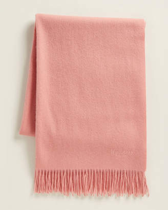 Mulberry Fringe Solid Wool Scarf