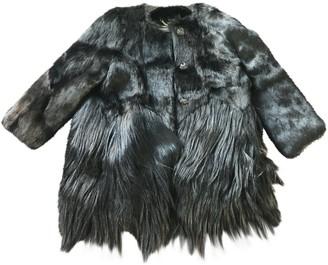 Burberry Black Faux fur Coats