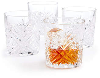 Martha Stewart Closeout! Collection Set of 4 Cut-Glass Double Old Fashion Glasses