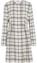 Carven Embellished Checked Wool-Blend Coat